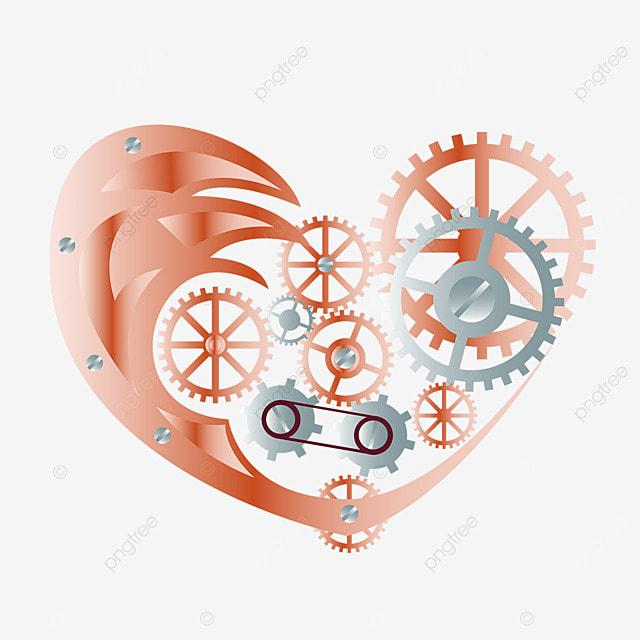 love metal mechanical gear retro steampunk
