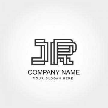 Initial Letter JR Logo Template Abstract Design PNG And Vector
