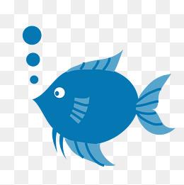 Bubbles fish. And png images vectors