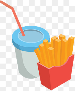 cartoon fries, Cartoon Vector, Snack Sticker, Cartoon PNG and Vector