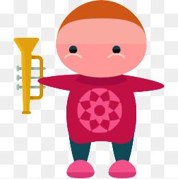 I vestiti di Rosso I BambiniLa Tromba I Immagine E Clipart PNG ff2d568d217