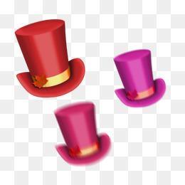 Cappello a Cilindro di materiale CE manifesti dipinta a manoCappello Rosso  IL Immagine E Clipart PNG 14503ce7e1b7