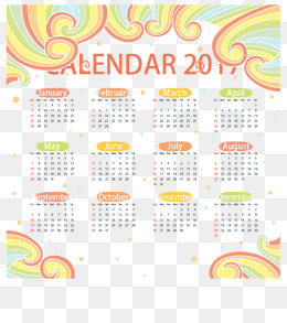 new year calendar border color wave 2017 calendar calendar calendars png and vector