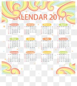 new year calendar border color wave 2017 calendar calendar calendars png and vector