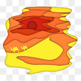 the effect of paper yellow gradient vector desert camel, Paper Art, Effect Of Paper, Orange PNG and PSD