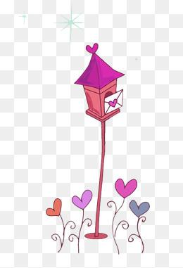 bo te aux lettres l amour de p che peigne rouge image png pour le t l chargement libre. Black Bedroom Furniture Sets. Home Design Ideas