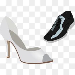 France Black And White Horizontal Stripe High Heels France