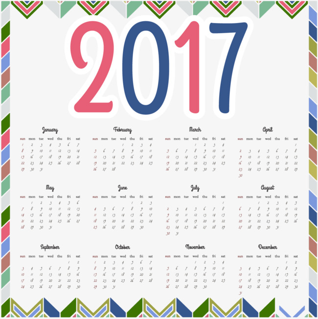 2017 Family Calendar Template Pattern Family Vector Calendar