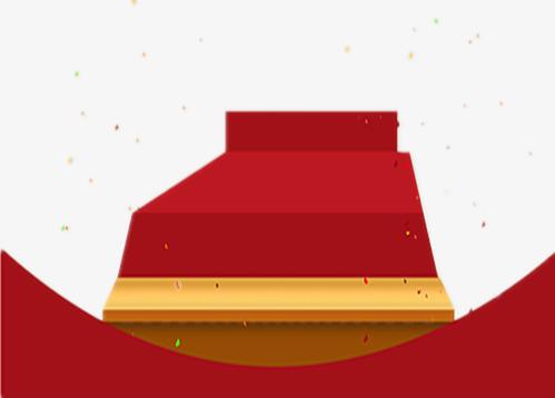 Le Tapis Rouge Rouge 3d Conception Graphique Podium De L Etape Image