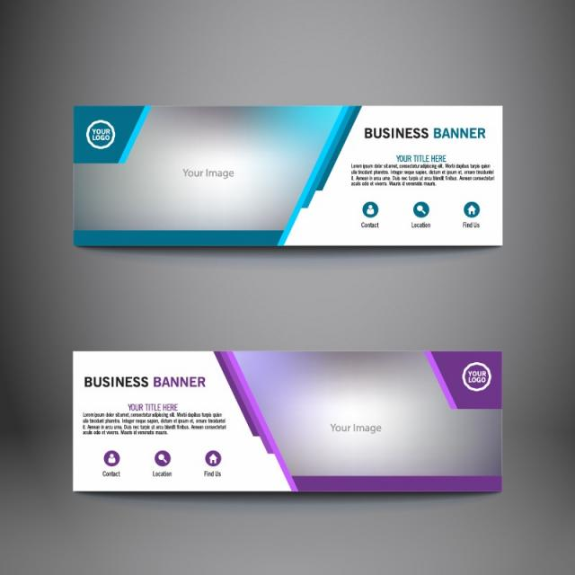 Abstract business banners template for free download on pngtree abstract business banners template wajeb