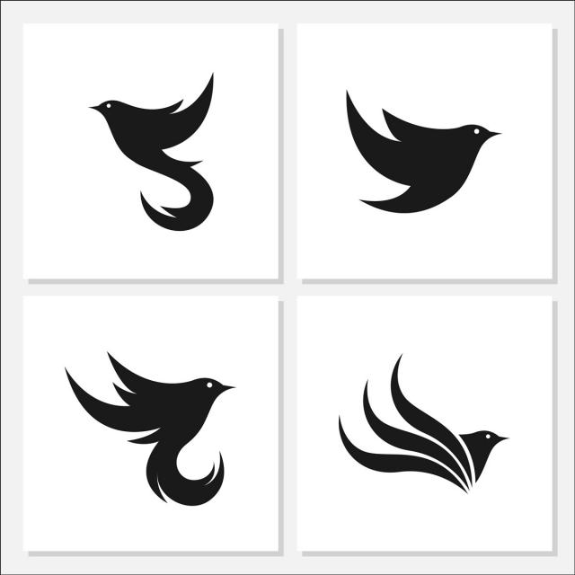 Ptak Logo Wzór Szablon Do Pobrania Za Darmo Na Pngtree