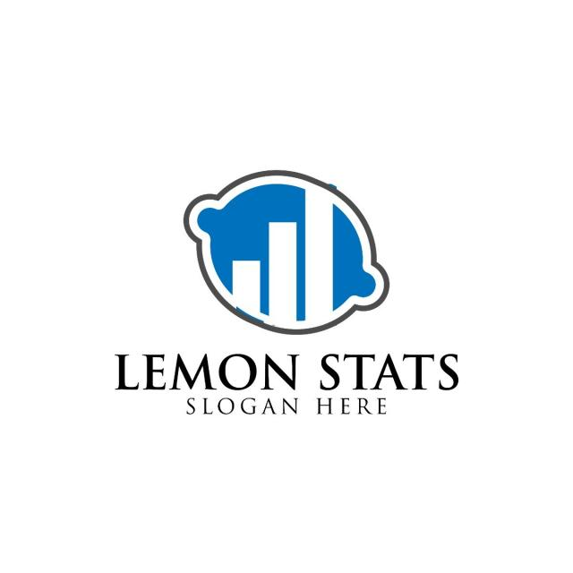 Blue Lemon And Business Consulting Logo Design Template