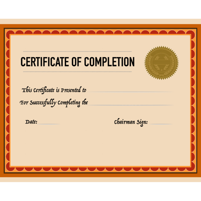 Certificate Of Completion Template For Free Download On Pngtree