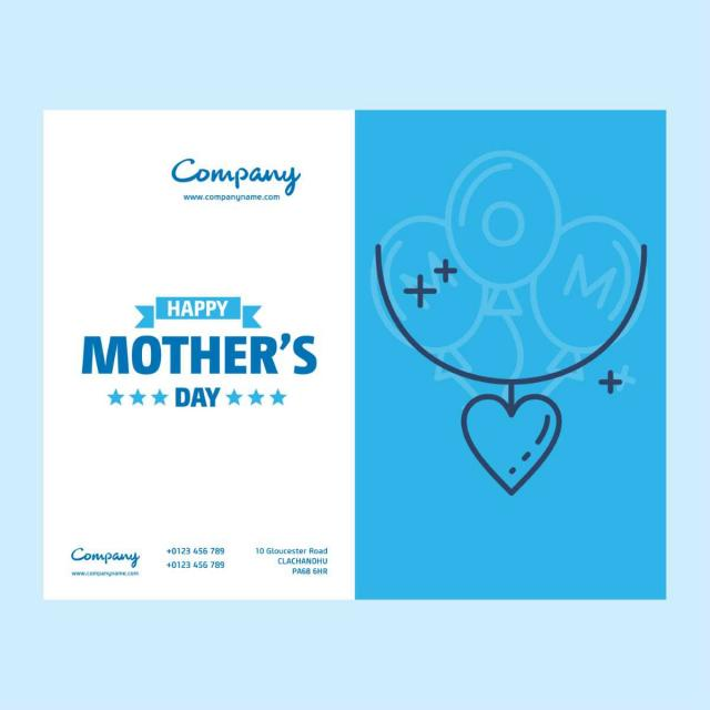 company mothers day card with creative design template for free