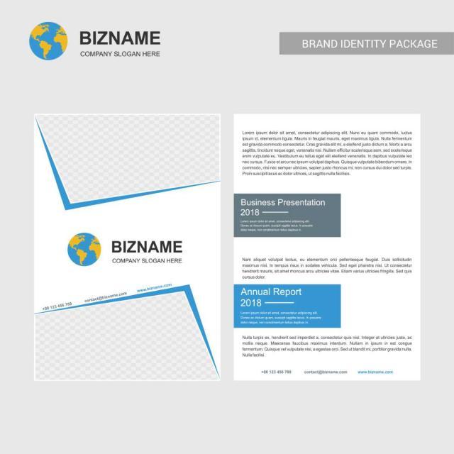 empresa diseño de folleto con mapa del mundo y la empresa gratis