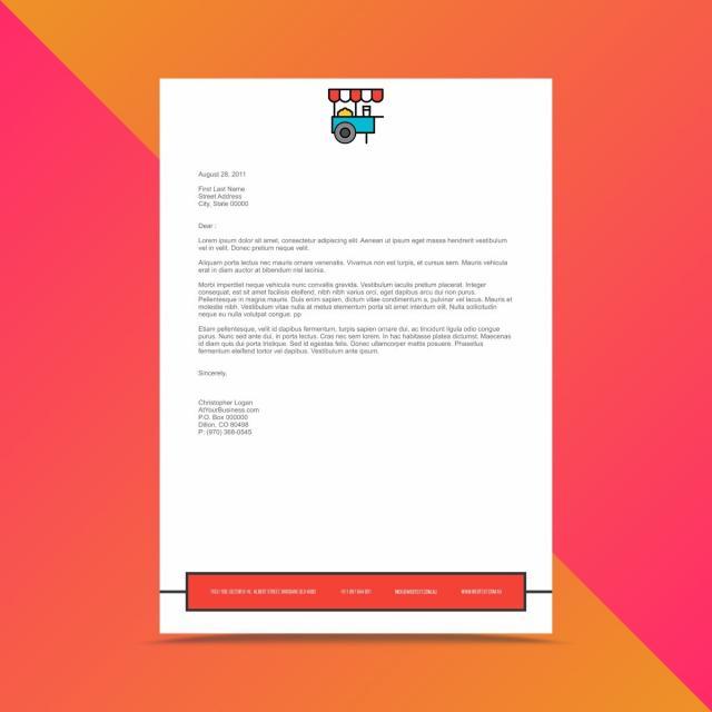 corporate business letterhead design template template for free