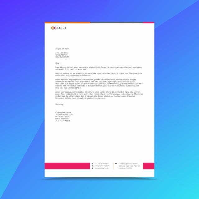 Corporate business letterhead design template template for free corporate business letterhead design template template accmission Image collections