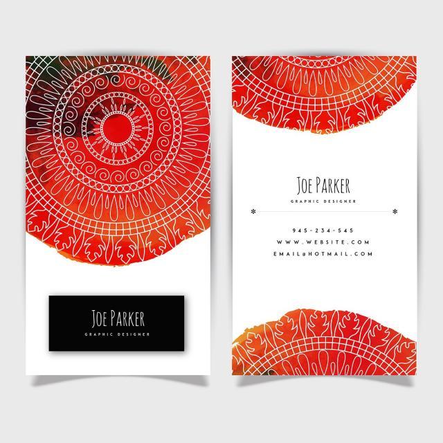 Kreative Aquarell Splatter Visitenkarte Vorlage Zum