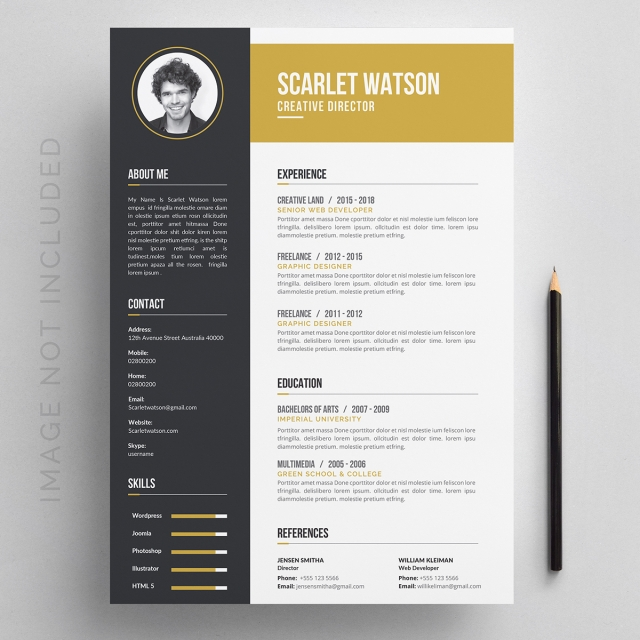Creative Resume Template For Free Download On Pngtree