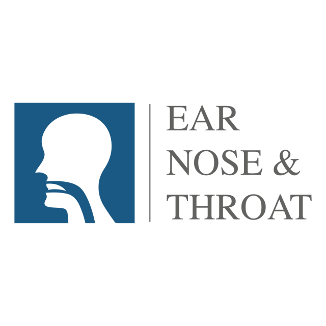 ent logo head for ear nose throat doctor specialists vector