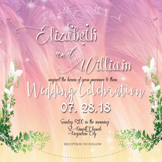Exquisite Background Wedding Poster Material Design Template For
