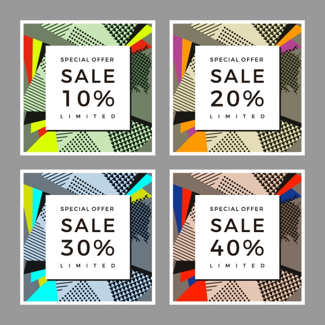 graphic sale pop art abstract collage pattern templates modelo para