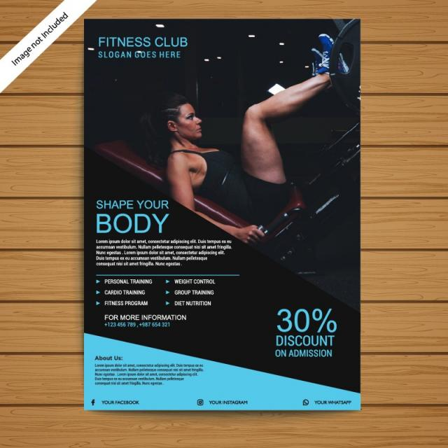 Gym Brochure | Gym Brochure Flyer Template Template For Free Download On Pngtree