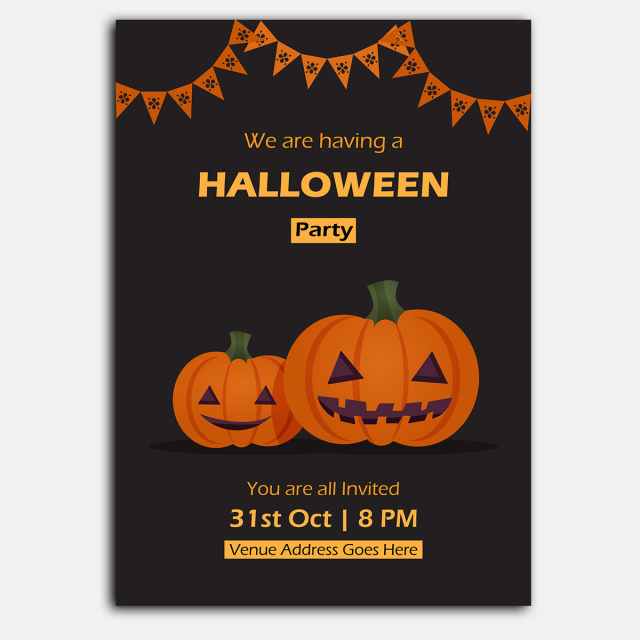 pngtreeにhalloween party posterテンプレートの無料ダウンロード