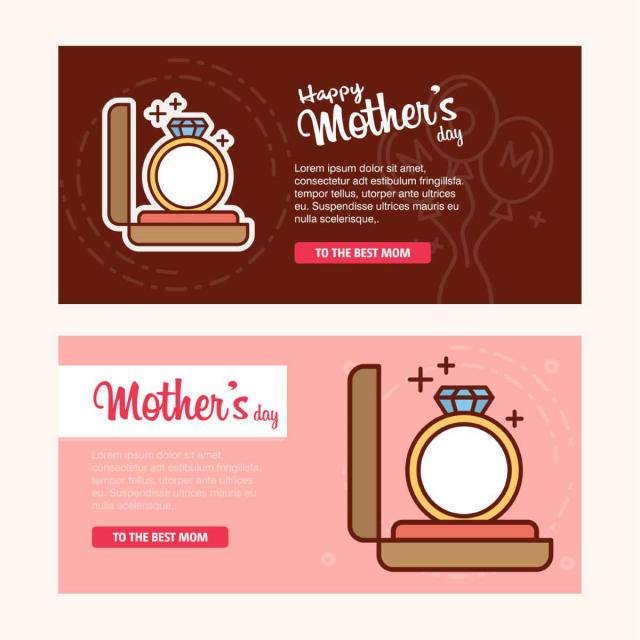 pngtreeにhappy mothers day card with pink and red background vector