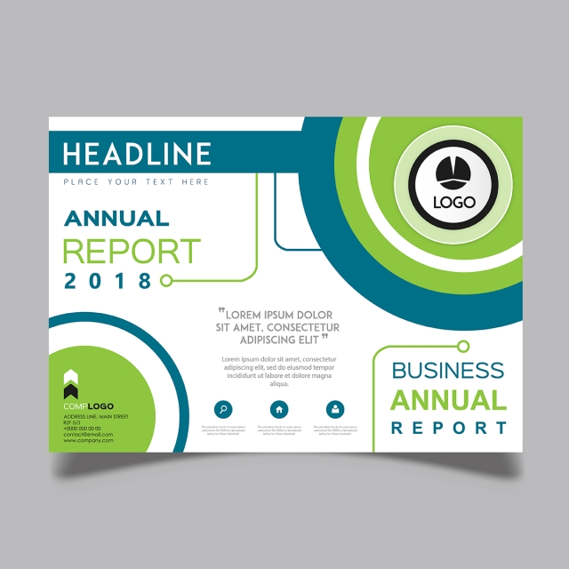 Horizontal vector 2018 annual report template for free download on horizontal vector 2018 annual report template friedricerecipe Choice Image