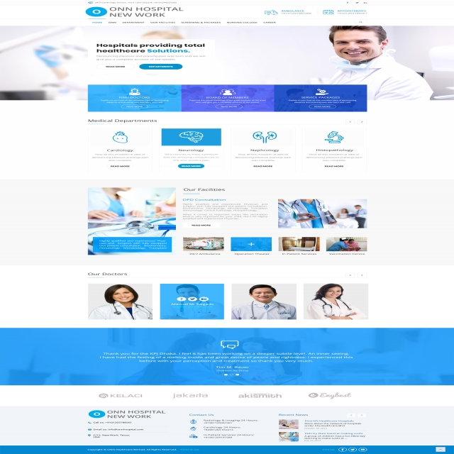 Hospital landing page design Template for Free Download on Pngtree