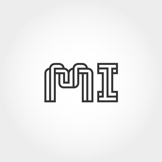 mod u00e8le de lettre initiale mi logo mod u00e8le de t u00e9l u00e9chargement gratuit sur pngtree