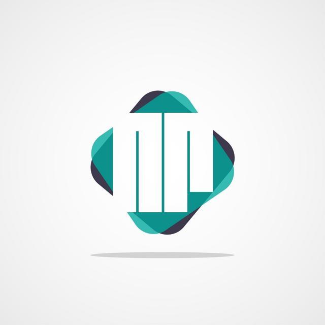 pngtreeにinitial letter nr logo designテンプレートの無料ダウンロード