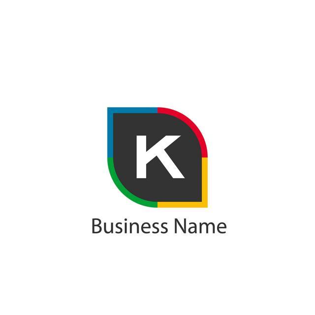 Buchstabe K Logo Template Design Vorlage Zum Kostenlosen