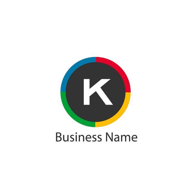 letter k logo template design template