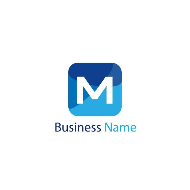 letter m logo template template