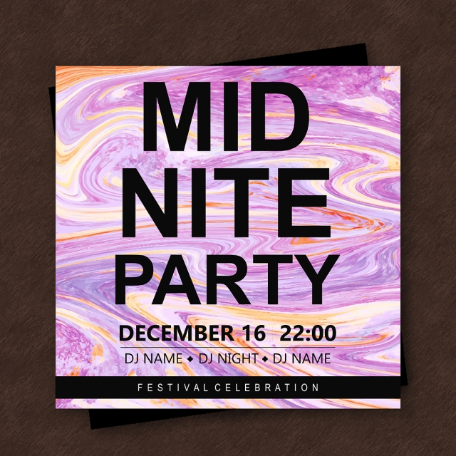 marble texture party poster template template for free download on