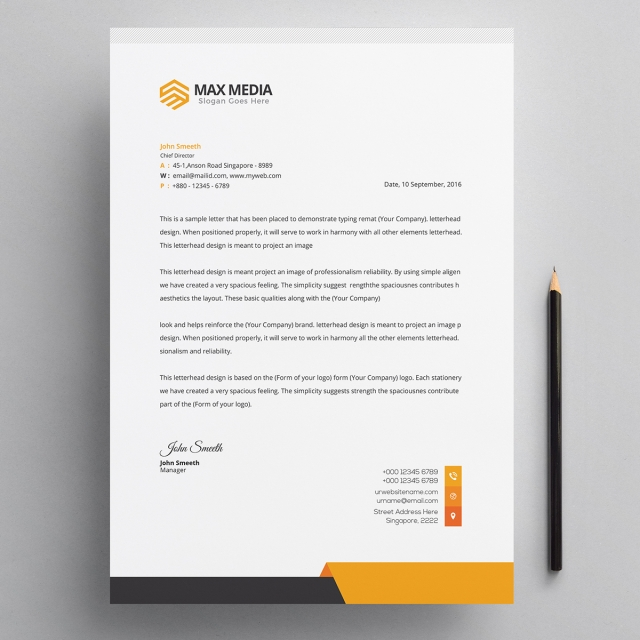 modern company letterhead psd template template for free download on