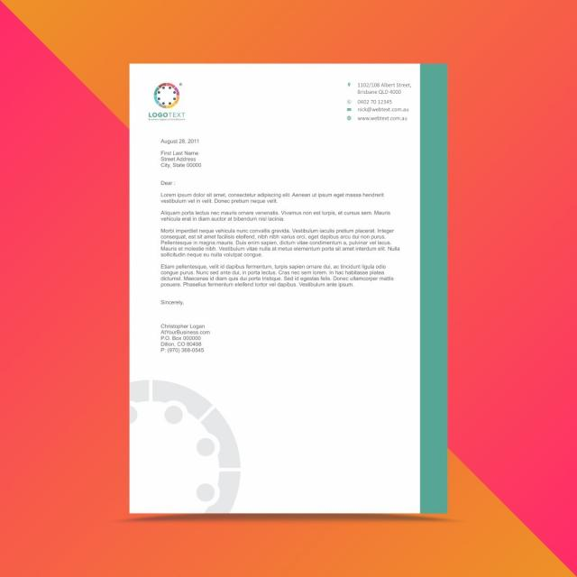 Professionelle Briefkopf Design Template Vorlage Zum Kostenlosen