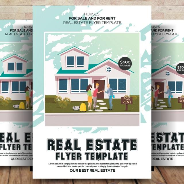 real estate flyer modelo para download gratuito no pngtree
