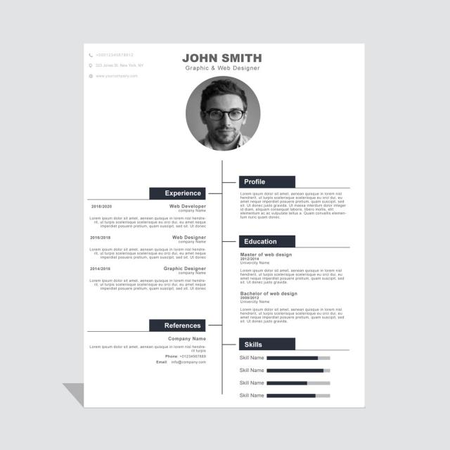 simples curriculum vitae cv modelo para download gratuito no pngtree