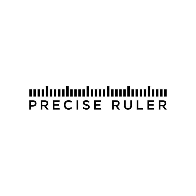 Simple Precise Ruler Logo Design Template Illustration