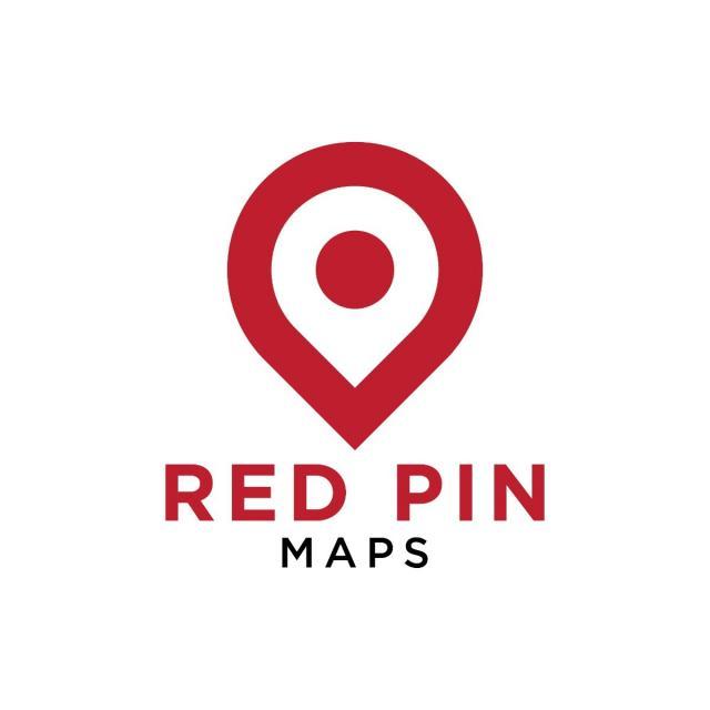 pngtreeにシンプルな赤いピンマップのロゴデザインテンプレートベクトル
