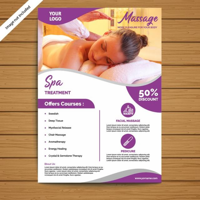 spa brochure flyer template template for free download on pngtree