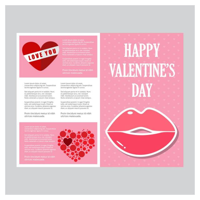 Valentines card with pink pattern background template for free valentines card with pink pattern background template maxwellsz