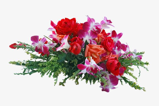 Un Faisceau Rouge Beau Bouquet De Mariage Rouge De Fleurs Une Carafe