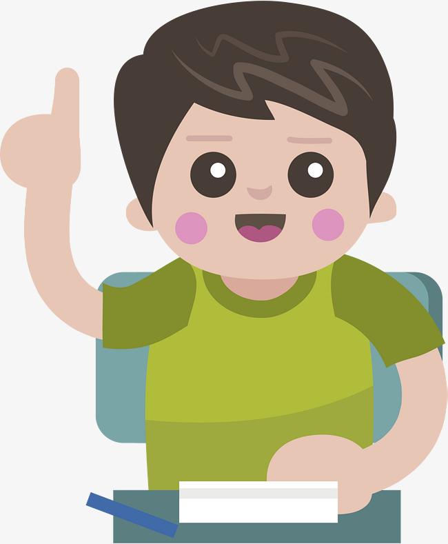 Angkat Tangan Untuk Bercakap Anak Laki Laki Vektor Penyelesaian