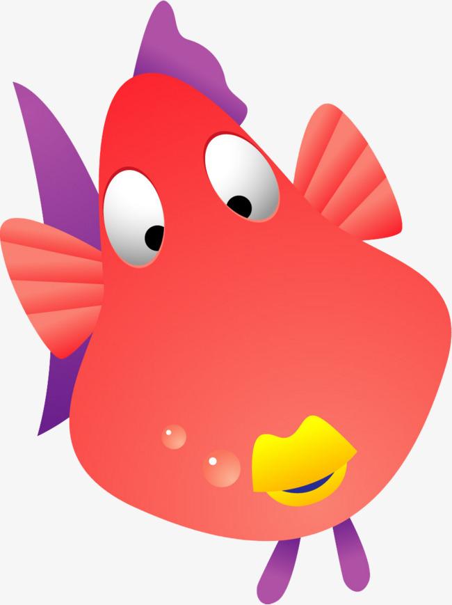 Un Dessin Joli Petit Poisson Rouge Dessin Mignon Rouge Image Png