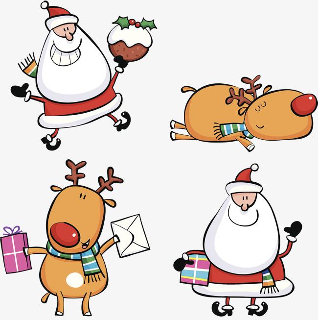 Un Hermoso Juego De Navidad Dibujos Animados Medias De Navidad Sobre ...