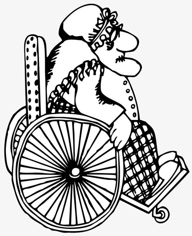 A Paralyzed Person In A Wheelchair Person Clipart Cartoon